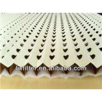 China V type Overspary collector kraft pleated paper filter on sale