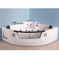 Portable Mini Indoor Hot Tub Corner Air Jetted Bathtubs 7 Skirt Lights Thermostatic Heater Manufactures