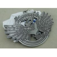 Soft Enamel Die Casting Medals For Running , Brass Awards Medal With Sublimation Ribbon Manufactures