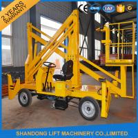 Automatic 4 Wheels Articulated Vehicle Mounted Boom Lift for 8m - 14m Aerial Work Manufactures