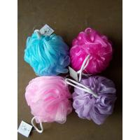 Multi Color Bath Balls Body Exfoliate Puff Sponge Mesh Shower Balls Bath Puff Manufactures