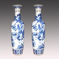 China delicate design excellent quality ink pine antique chinese floor vase on sale