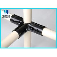 3 way Flexible Metal Pipe Joints Black Electrophoresis For Pipe Rack System Manufactures