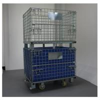 Galvanized Stacking Portable Wire Cage With Hollow Board Mesh Gauge 50*50mm Manufactures