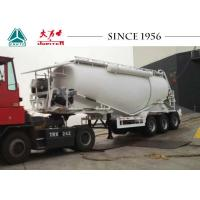 3 Axles Bulk Cement Tanker Trailer 60 Tons Payload High Strength Steel Tank Body Manufactures