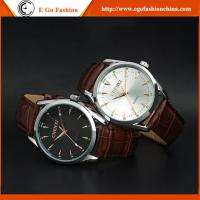 E Go Fashion 006A Stainless Steel Quartz Watch Genuine Leather Strap Watches Unisex Man Manufactures