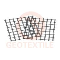 400Kn / 400Kn Uniaxial Geogrid , Low Elongation Pet Geogrid For Airport Road Reinforcement Manufactures