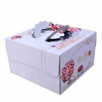 Square Birthday Cake Custom Packaging Boxes Food Grade Lvory Paper 400gsm - 800gsm Manufactures