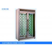 Rose Gold Dual Control Wine Cooler With Security Lock CE Certification Manufactures