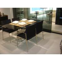 Black 4 Custom Made Dining Chairs with Table Sets with Changable Cloth Cover Manufactures