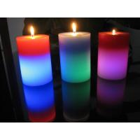 China Light Activated Pillar Flameless LED Candles Rainbow Color Changing Eco Friendly on sale