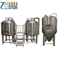 1000L / 2000L / 3000l Commercial Microbrewery Equipment Semi Automatic For Hotel Manufactures