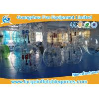 TPU Adult Inflatable Bubble Ball Games For Soccer Bubble Club Manufactures