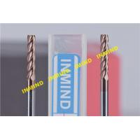 0.5UM Grain Size Tialn Coated End Mills , Long Flute Square End Custom Milling Cutters Manufactures