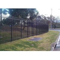 Security Steel Tube Fence Panels , Galvanised Tubular Fencing With 25mm Tube Diameter Manufactures