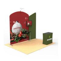 Foldable Trade Show Booth Displays 10x10 Custom Printed Solid Reusable Manufactures