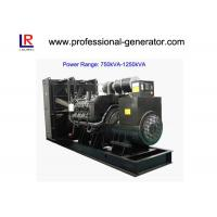 Low Noise 50Hz/60Hz Diesel Powered Generator 900kVA/720kw Water Cooling Manufactures