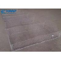 China Easy Assemble Woven Gabion Baskets , Gabion Rock Wall Flexible Rigid Solid Structure on sale