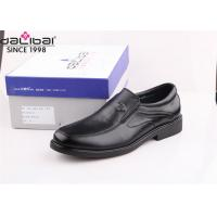Quality Classic Worker Mens Slip On Dress Shoes With Lightweight Flexible Rubber Sole for sale