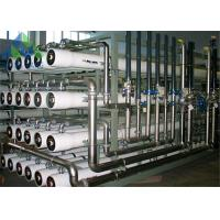 Industrial Processing Boiler Feed Water Treatment System 98% Rejection Rate Manufactures