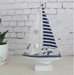 American single sail wooden ornaments Mediterranean sailing yacht model sailboat deco Manufactures