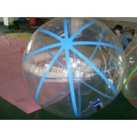 1.0mm PVC Transparent Walk On Water Inflatable Ball With Blue Strings Manufactures