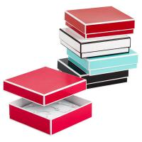 China Recyclable Colorful Kraft Jewelry Paper Boxes / Bracelet Packaging Box on sale