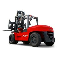JAC 10 Ton Diesel Forklift , Large Capacity Counterbalance Forklifts , Heavy Equipment Forklift , Red Or Orange Color Manufactures