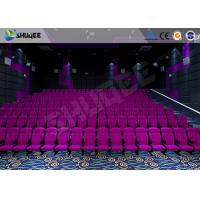 Sound Vibration Cinema 3D Movie Theater System With Shock Effects Seats Manufactures