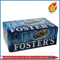 high quality corrugated paper color box for 24 pieces 330mm beer bottle Manufactures