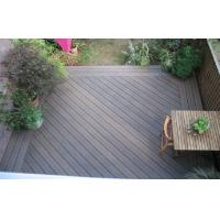 Engineered Grain Surface WPC Deck Flooring For Outdoor Decoration Natural Wood Color Manufactures