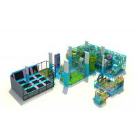 Multi Zones Commercial Children'S Indoor Play Equipment With Slides / Climbing Manufactures