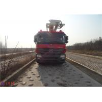 Water Capacity 4800kg Water Tower Fire Truck Max Loading 23700Kg With With Fully Hydraulic Drive Manufactures