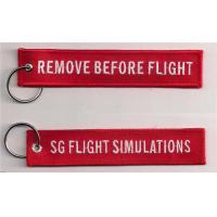 China Remove Before Flight SG Flight Simulations Fabric Embroidered Key Tags on sale