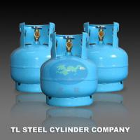Household 7.2L liquefied Gas cylinders / Bottles With Angle Valve Manufactures