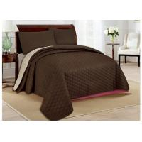 Skin Friendly Bed Spread Sets 100 Polyester Bedspread For Home Manufactures