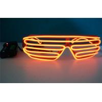 Flashing Light Mask Symbol Luminous El Wire Sunglasses / Electro Luminescent Sunglasses Manufactures