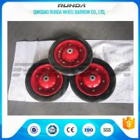 Narual Solid Rubber Wheels , Bush Bearing Solid Rubber Wheelbarrow Tires TUV Manufactures