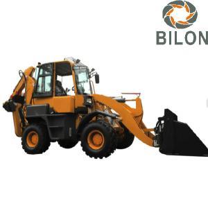 Hydraulic Pilot Joystick Caterpillar Backhoe Loader With 0.2M3 Excavating Bucket Manufactures