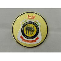Iron / Brass / Copper Returned & Service Personalized Coins with Soft Enamel, Gold Plating for Commemorative Manufactures