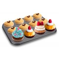 Microwave Aluminium Baking Tray Carbon Steel Cupcake Mold Round Mini Cake Muffin Pan Manufactures