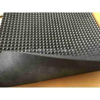 China Black Neoprene Rubber Sheet Roll With Continuous Diamond Field Design for sale