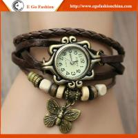 China Retro Leather Watch Stainless Steel Quartz Watch Leather Watch Vintage Bracelet Watches on sale