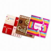 Acrylic 10cm Rectangular Coasters, 3mm Thick with CMYK Logo and Visual Manufactures