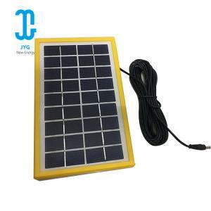 220ma Polysilicon Epoxy Solar Panel 3W 6V Tempered Glassyellow Frame Manufactures