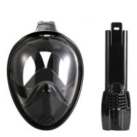 Black Vision / Round Full View Easy Snorkel Mask Eco Friendly Liquid Silicone Material Manufactures