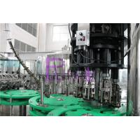 3 In 1 Glass Bottle Drinking Water Filling Plant With Full Automatic PLC Control Manufactures