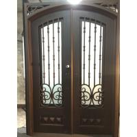 Wrought iron door with copper finish