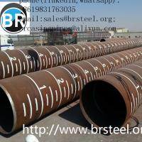 SSAW Spiral Welded Steel fbe/lpe coating Pipe X42 X46 X52 X70 API 5L PSL1 Standard For Oil And Gas Pipeline,black paint Manufactures