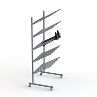 30 Pair Steel Mobile Chrome Hotel Display Stand KD Knockdown Manufactures
